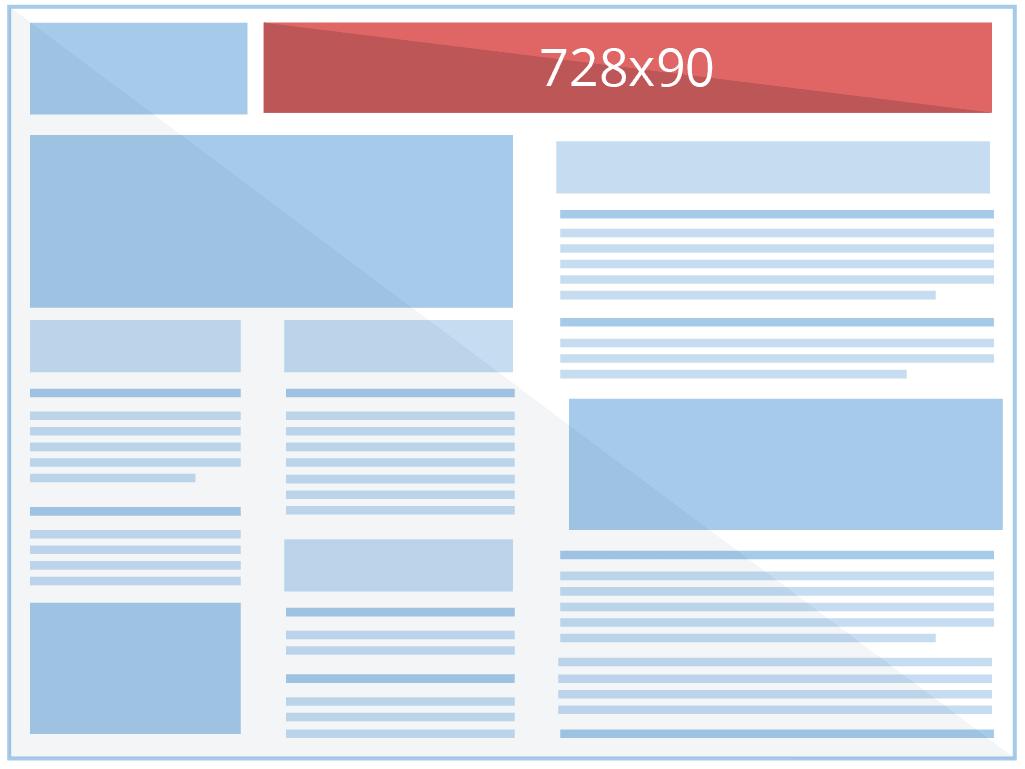 Reklama Google Ads: 728x90