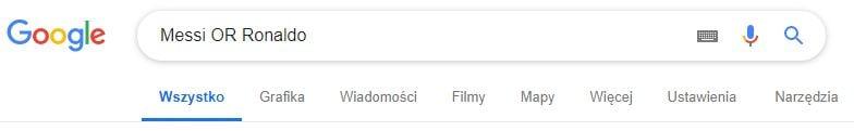 OR wyszukiwanie