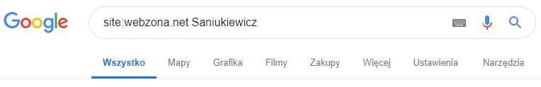 saniukiewicz wyszukaj